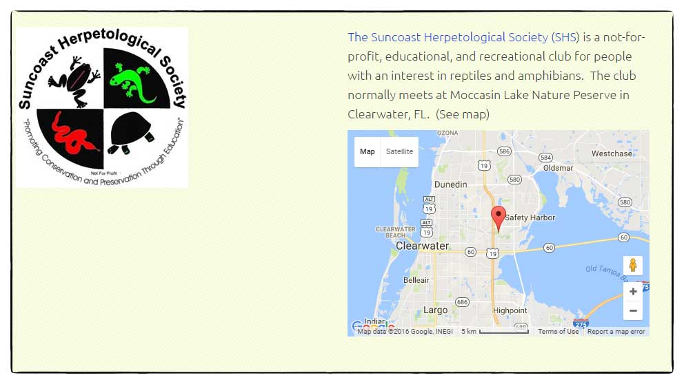Suncoast Herpotology Society