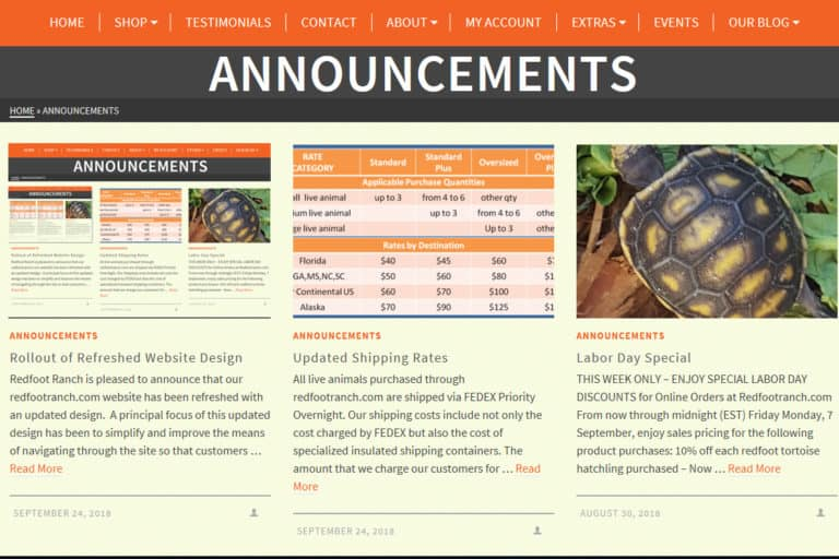 Rollout of Refreshed Website Design
